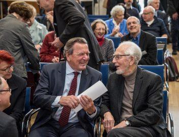 Gerhard Schröder und Erhard Eppler, Evangelische Akademie Bad Boll, 15.01.2017 (Foto: Giacinto Carlucci)