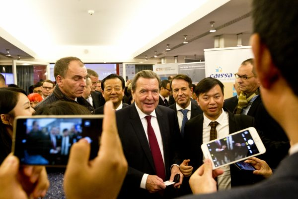 "Hamburg Summit 2016, China meets Europe, Hamburg Chamber of Commerce, Hamburg, Northern Germany, Wednesday, November 23, 2016 Gerhard Schröder, Former Chancellor of the Federal Republic of Germany, Honorary Chairman of the ""Hamburg Summit: China meets Europe"""