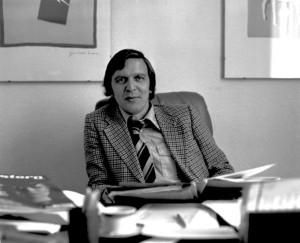 Gerhard Schröder als junger Anwalt 1977 in Hannover